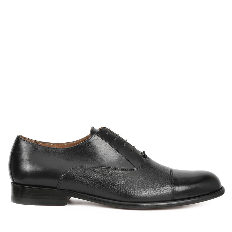 Gino Oxford Lace-up - Black Leather