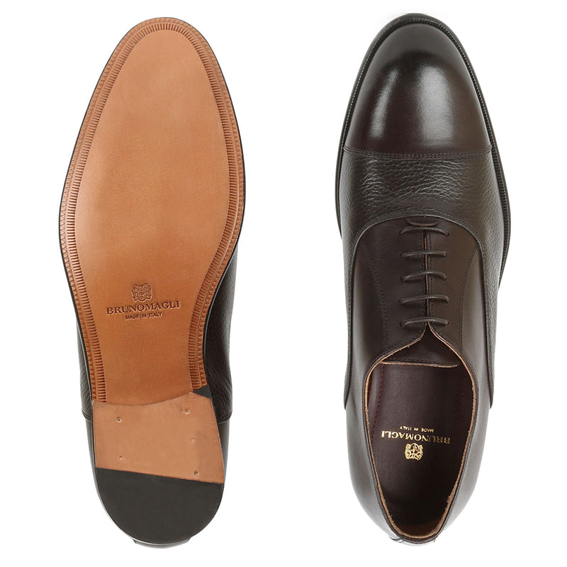 Gino Oxford Lace-up - Dark Brown Leather