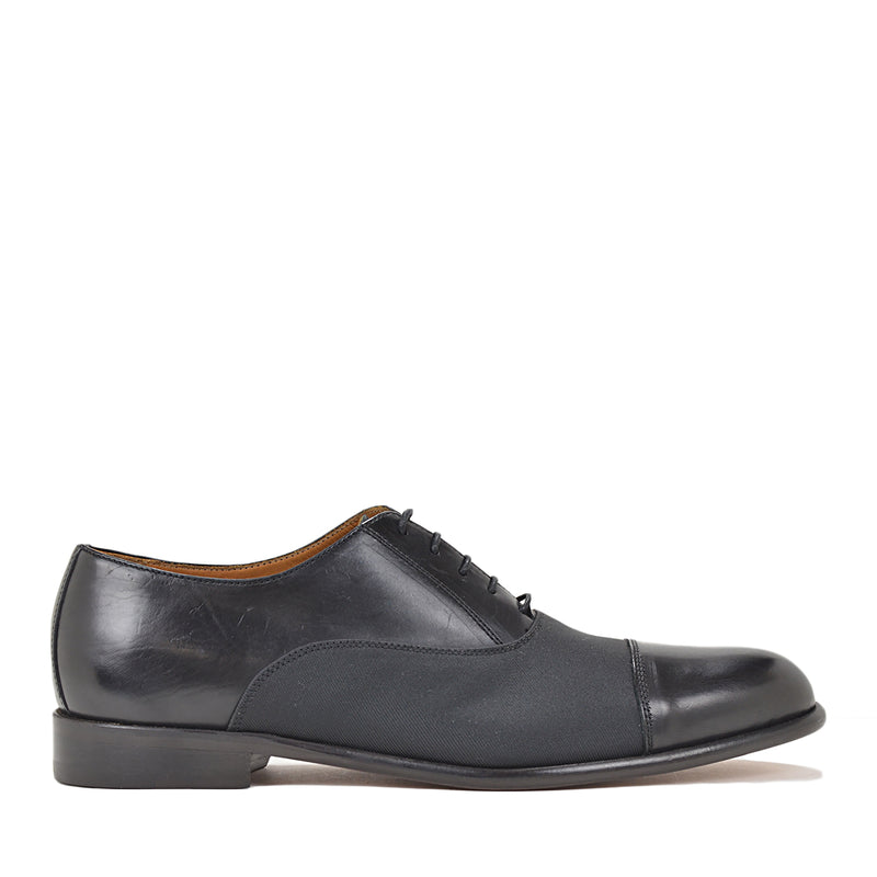 Gino Oxford Lace-up - Black Leather/Textile
