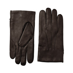 Men's Classic Hand-Stitched Leather Gloves - Brown