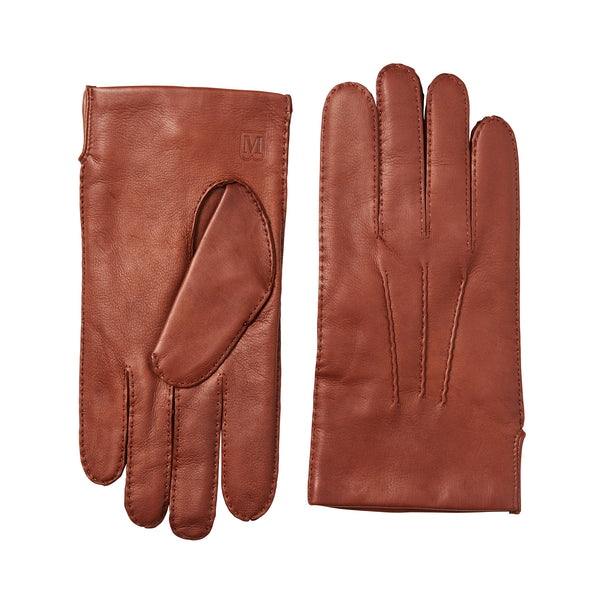 Men's Classic Hand-Stitched Leather Gloves - Vicuna
