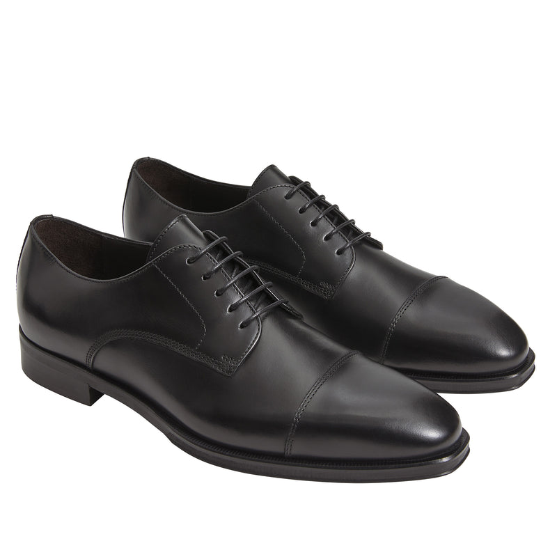 Hanover Leather Oxford Lace-Up - Black