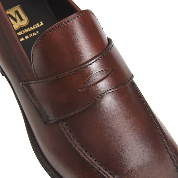 Hudson Leather Dress Loafer - Rust