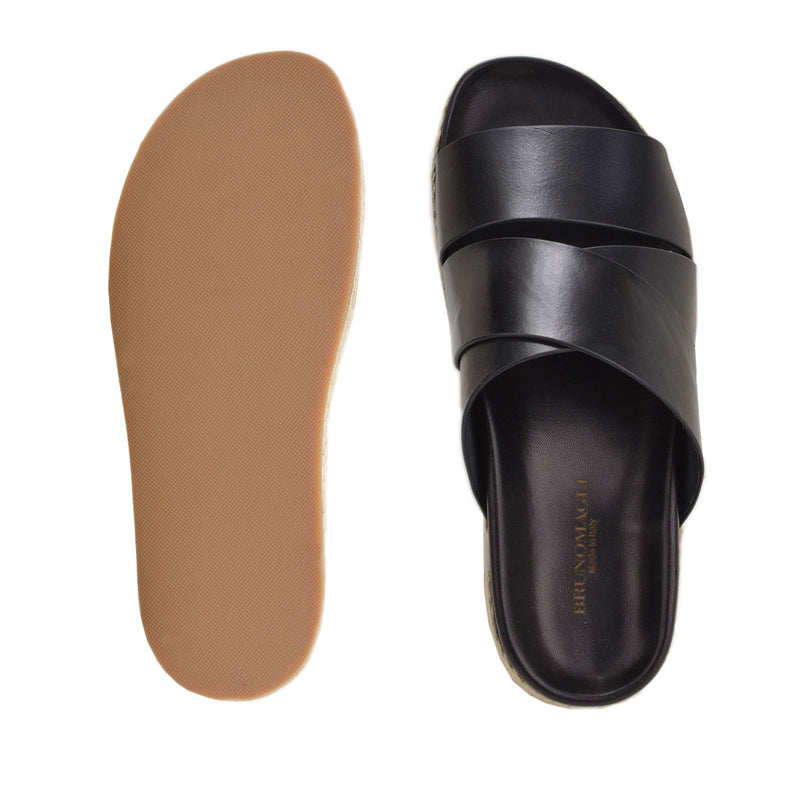 Isola Sandal - Black Leather