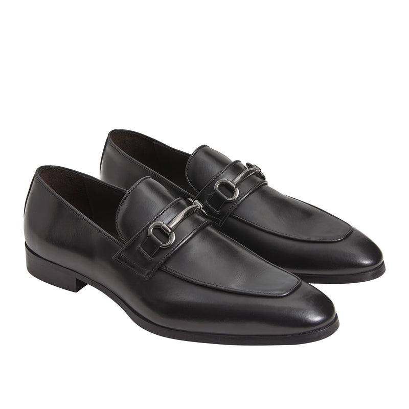 Jackson Leather Bit Loafer - Black