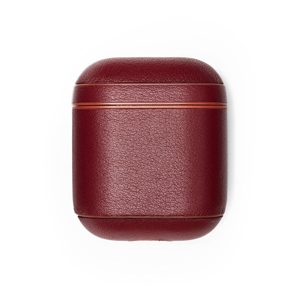Leather AirPods Case - Merlot - Soho Exclusive