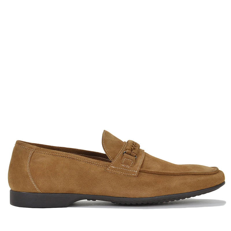 Lorenzo Men's Leather Loafer Slip-on - Whiskey - FINAL SALE