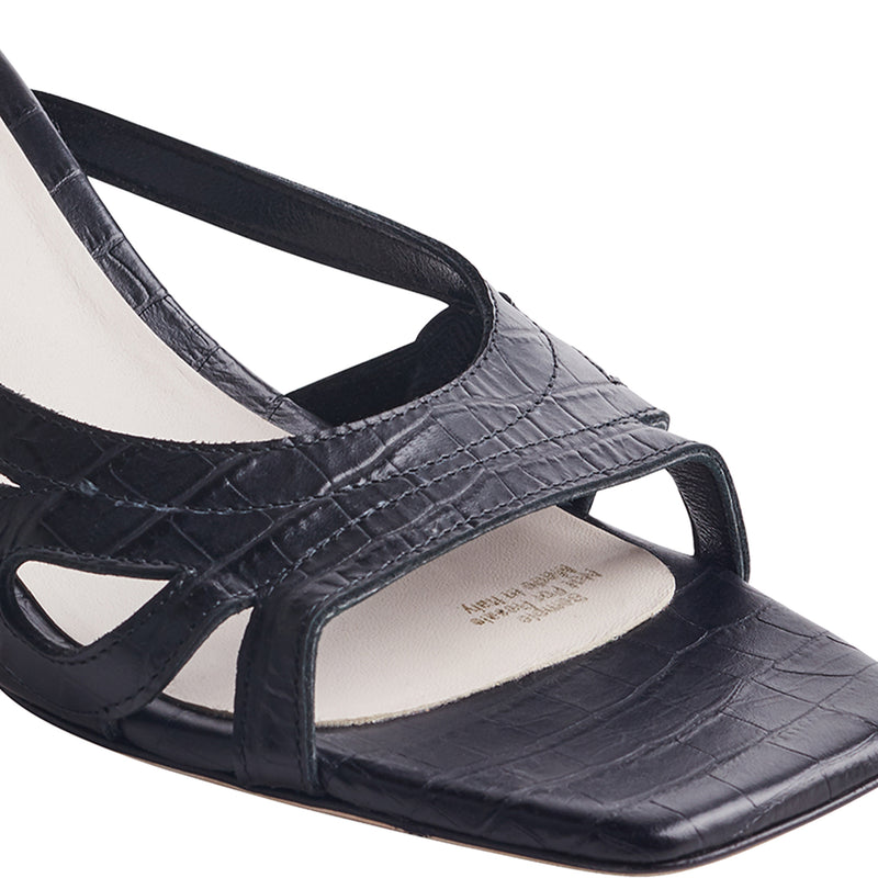 Luce Open-Toe Mule Sandal - Black