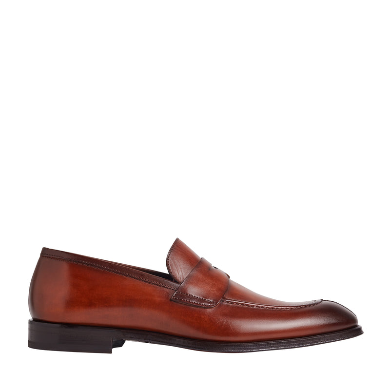 Luigi Split-Toe Penny Loafer - Cognac
