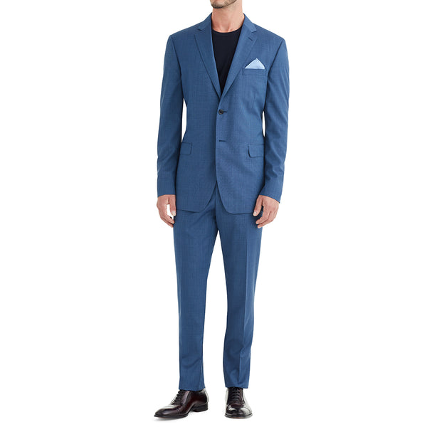Verdi Solid Two-Button Suit - Blue - Soho Exclusive