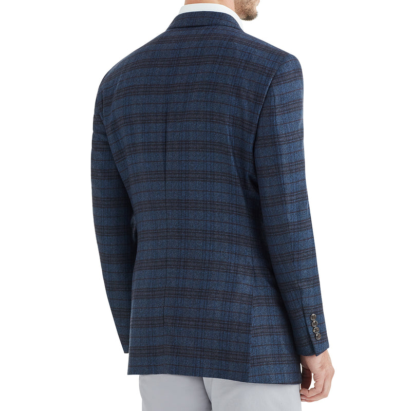 Bassi Plaid Two-Button Sportcoat - Blue - Online Exclusive