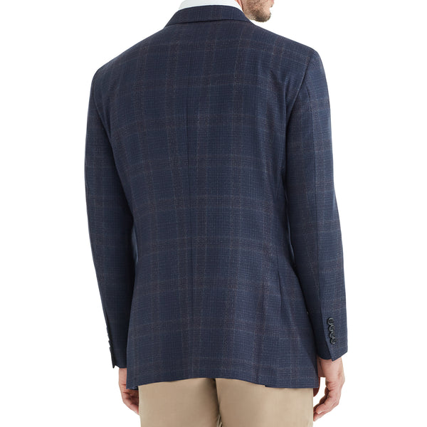 Bassi Grid Plaid Two-Button Sportcoat - Blue - Online Exclusive