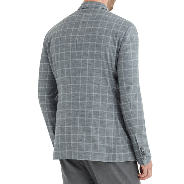Lucca Window Plaid Wool & Linen Sportcoat - Grey - Online Exclusive - FINAL SALE