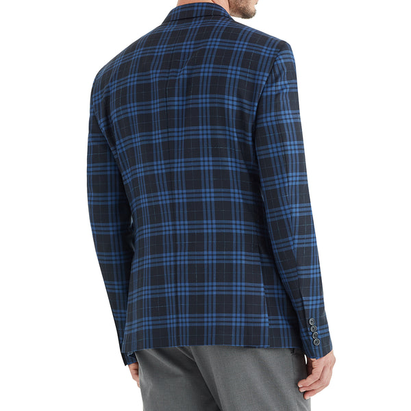 Lucca Plaid Three-Button Sportcoat - Black/Blue - Soho Exclusive