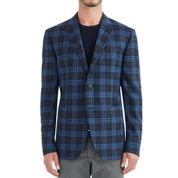 Lucca Plaid Three-Button Sportcoat - Black/Blue - Online Exclusive - FINAL SALE
