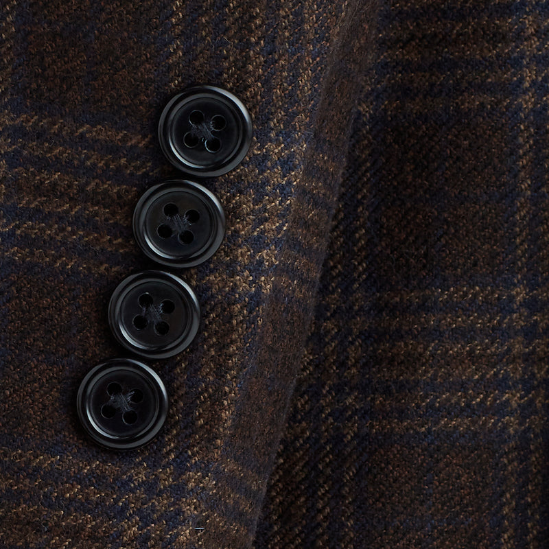 Lucca Two-Button Wool & Linen Sportcoat - Burgundy Check - Online Exclusive - FINAL SALE