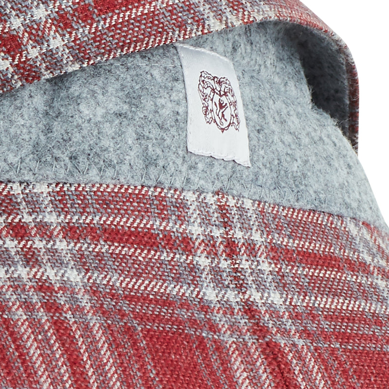 Lucca Plaid Wool & Linen Sportcoat - Red - Online Exclusive