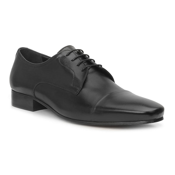 Martico Cap-Toe Derby Lace-Up - Black
