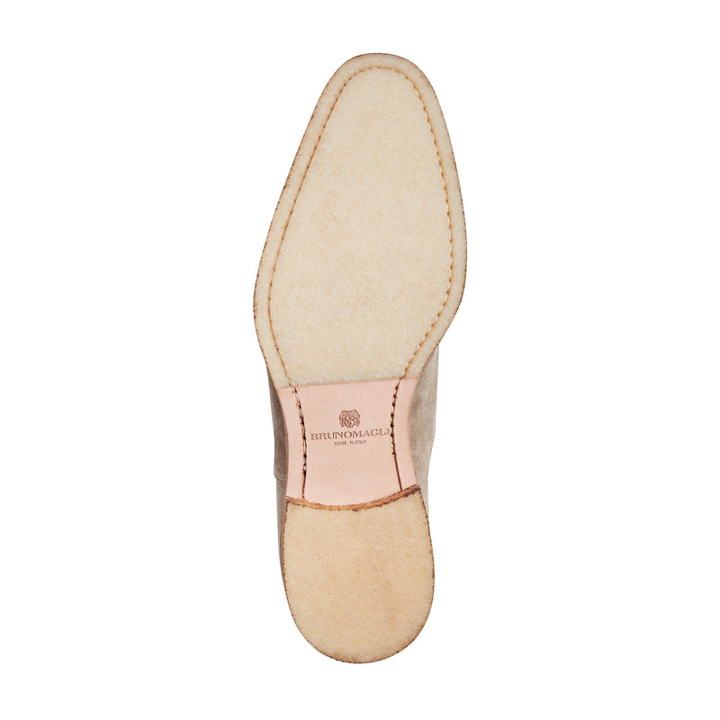 Mattias Suede Laceless Oxford Shoe - Sand