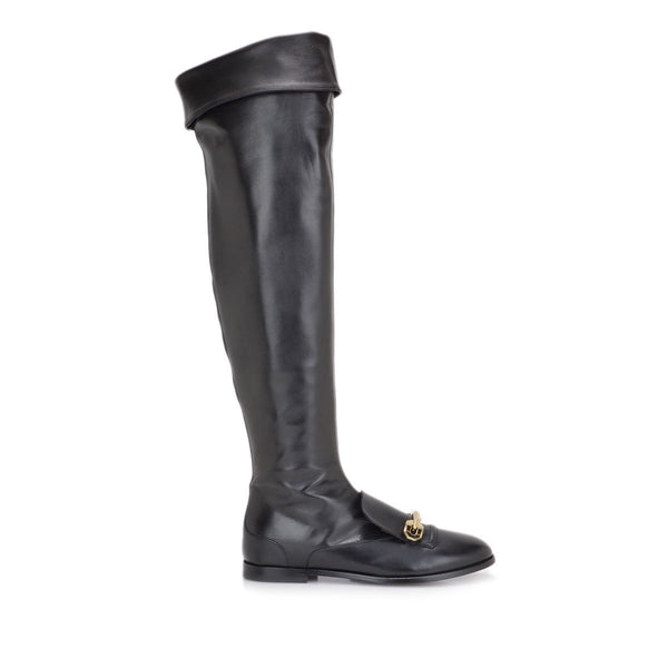 Mirella Leather Boot - FINAL SALE - Black Leather