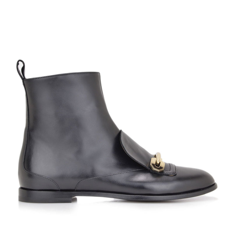 Monica Leather Boot - FINAL SALE - Black Leather