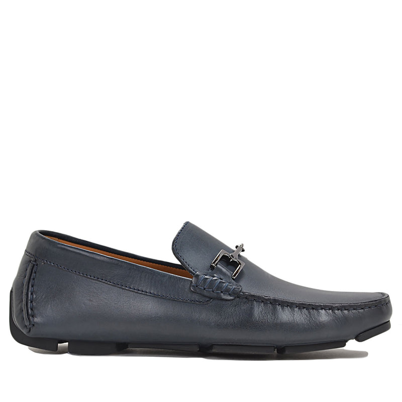 Monza Driver - Navy Leather - FINAL SALE