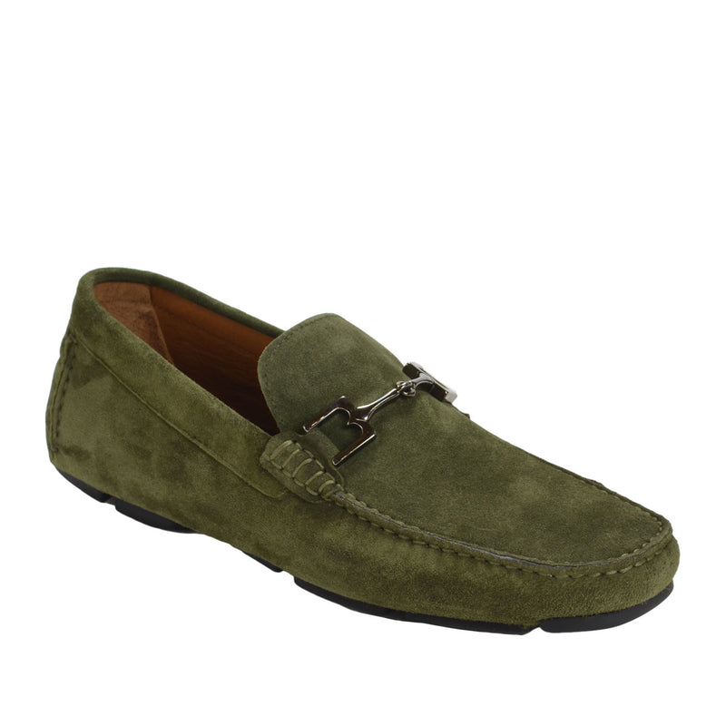 Monza Suede Driver - Olive Suede - FINAL SALE