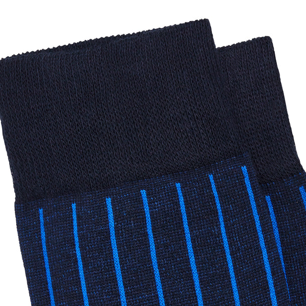 Men's No. 45 Pinstripe Dress Socks - Bluette