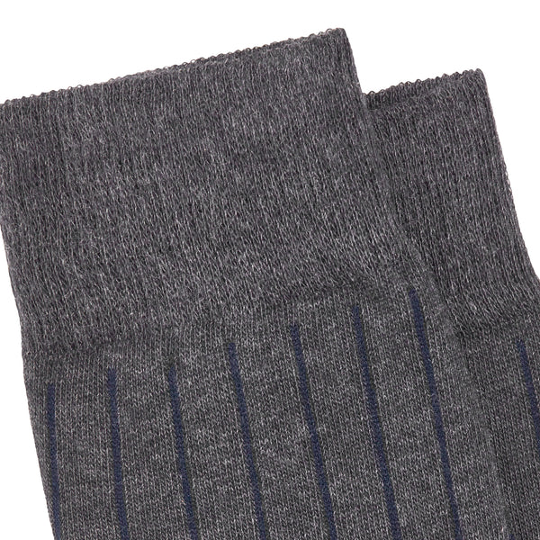 Men's No. 45 Pinstripe Dress Socks - Grey Melange