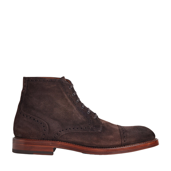 Octavio Suede Lace-Up Boot - Dark Brown