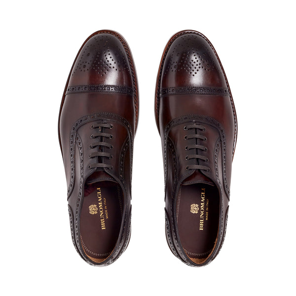 Olimpio Cap-Toe Oxford - Dark Brown