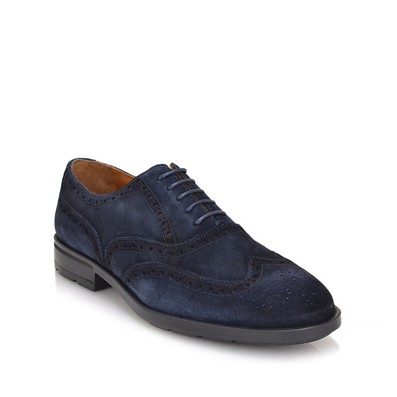 Oliver Suede Lace-up - Navy Suede
