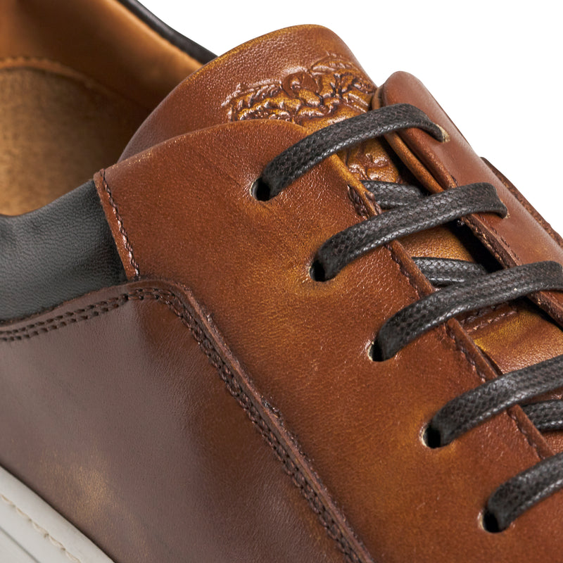 Oslo Leather Sneaker - Cognac