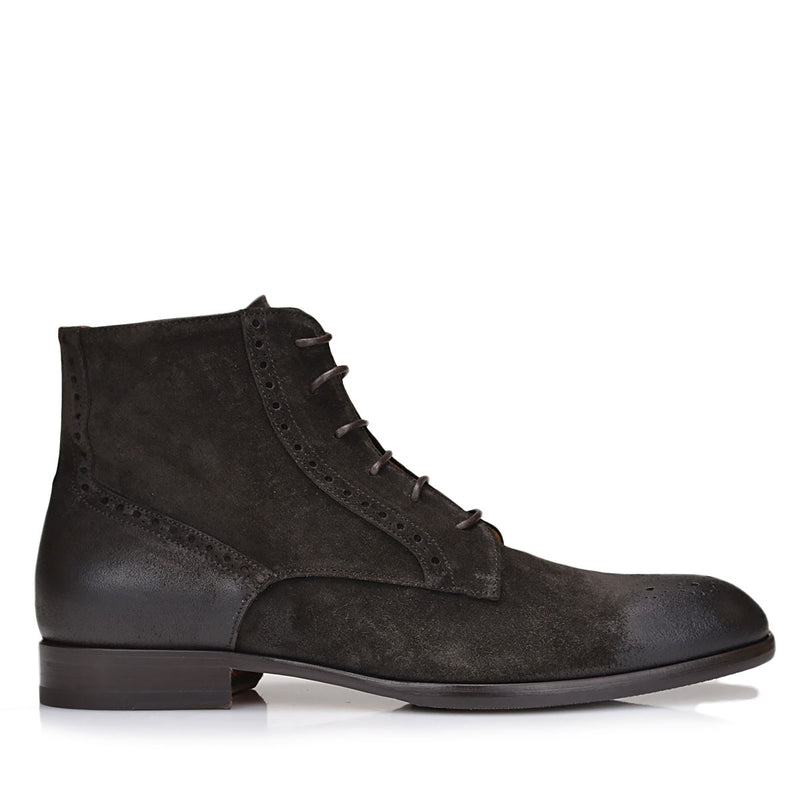 Palermo Lace-up Boot - Dark Brown Suede - FINAL SALE