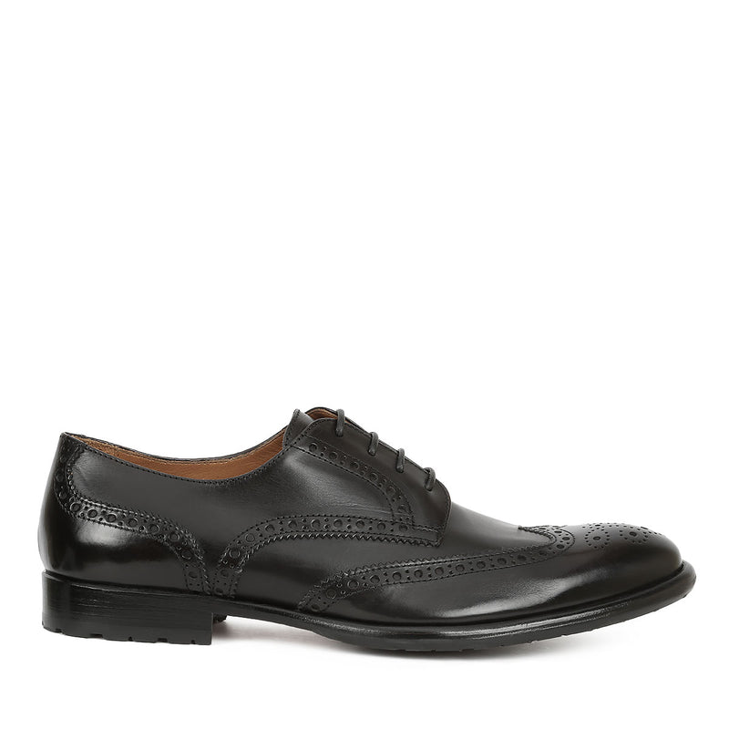 Parma Lace-up - Black Leather - FINAL SALE
