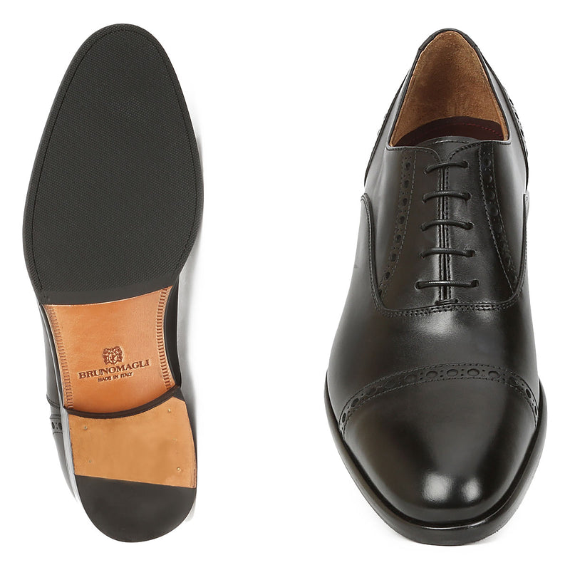 Pisa Oxford Lace-up - Black Leather - FINAL SALE