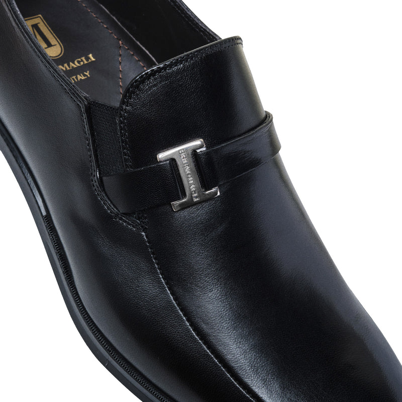 Pivetto Leather Dress Loafer - Black