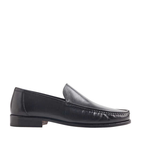 Positano Venetian Loafer Slip-On - Black