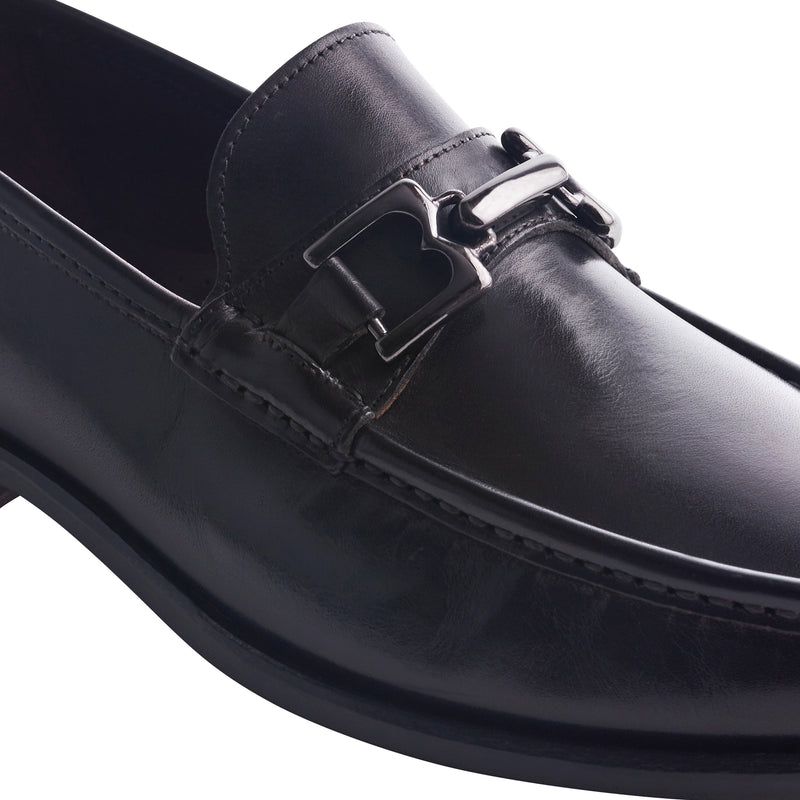 Premio Leather Bit Loafer - Black