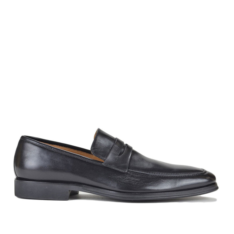 Ragusa Penny Loafer - Black Leather