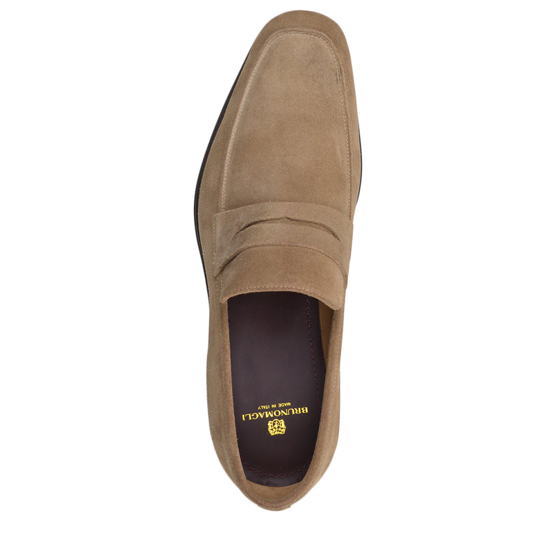 Ragusa Suede Penny Loafer - Sand Suede - FINAL SALE