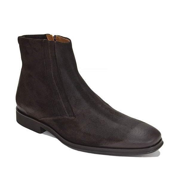 Raspino Oiled Suede Boot - Dark Brown Oiled Suede