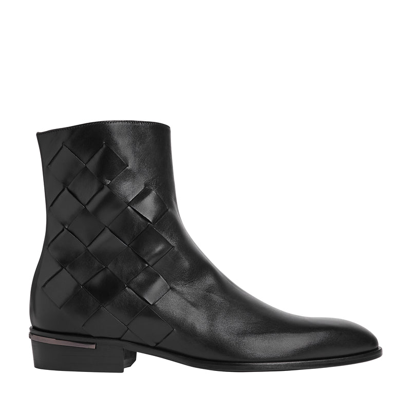 Riccardo Cuban-Heel Boot - Black