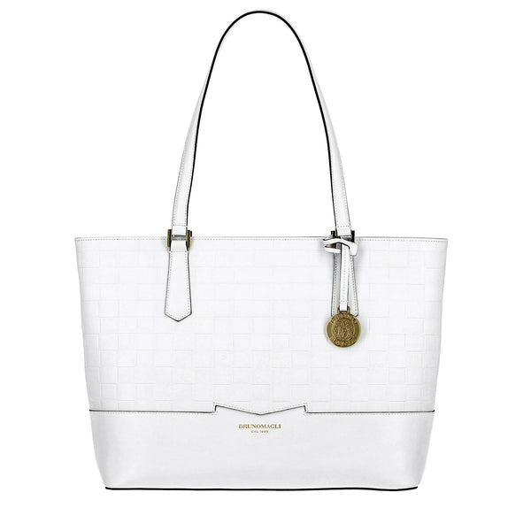 Novelty Woven-Embossed Easy Tote - Talc