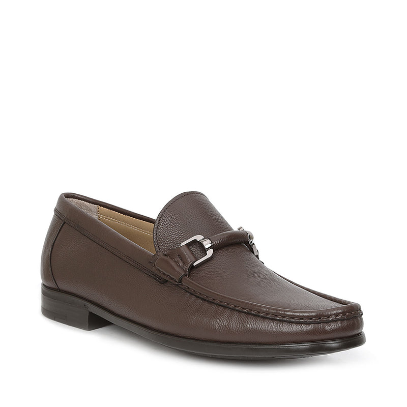 Salento Slip-On Bit Loafer - Dark Brown Leather