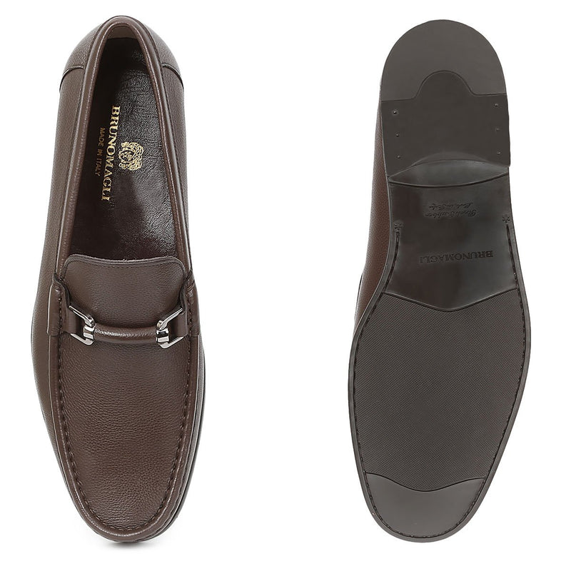 Salento Slip-On Bit Loafer - Dark Brown Leather - FINAL SALE