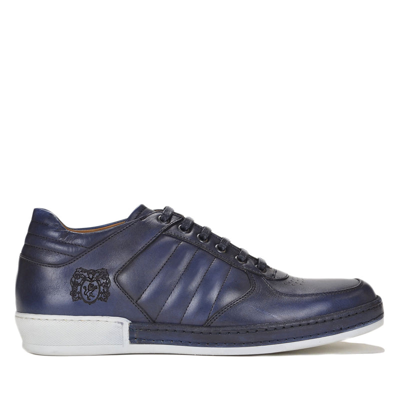 Santo Sneaker - FINAL SALE - Blue Leather