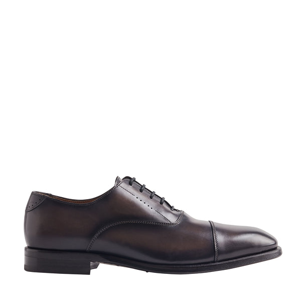 Scandicci Leather Oxford Shoe - Dark Grey