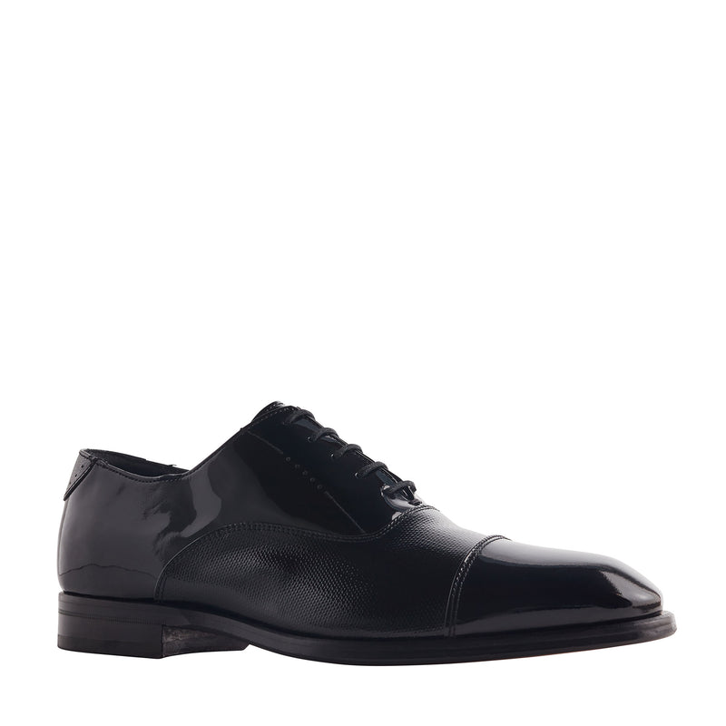Scandicci Sera Patent Leather Oxford Shoe - Black