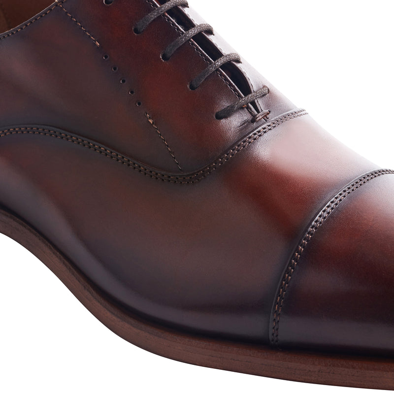 Scandicci Leather Oxford Shoe - Whiskey